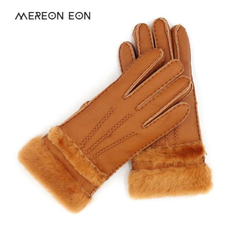 Spezielle Frauen Warme Woll Handschuhe Frauen Handschuhe Echt Leder Wolle Pelz Handschuhe Schöne Mädchen Schaffell Leder Handschuhe Für Dame