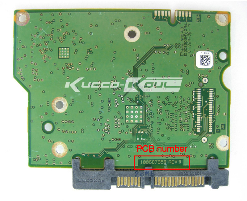 hard drive parts PCB logic board printed circuit board 100687658 for Seagate 3.5 SATA 1T/2T/3T hard drive repair data recovery