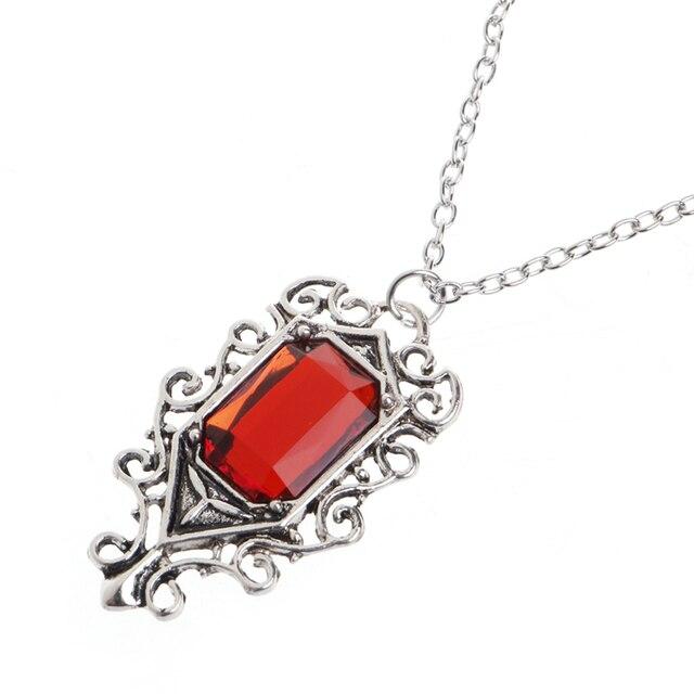 Isabelle lightwoods red crystal pendant necklace the mortal isabelle lightwoods red crystal pendant necklace the mortal instruments city of bones aloadofball Gallery
