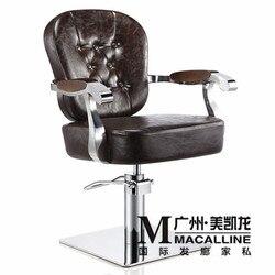 نموذج بيع الفاخرة على الطراز الأوروبي مقعد تصفيف الشعر صالونات الشعر الرجعية مخصصة حلاقة كرسي