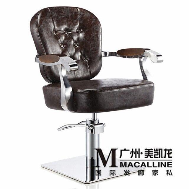 Model selling luxury european-style hairdressing chair retro hair salons dedicated haircut chair