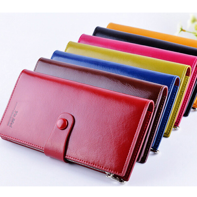 Women Wallet Leather Bag Female Purse Long Multifunction Wallet Phone Holder Wemen Cards Coins Purse Female Clutch Money Pocket in Wallets from Luggage Bags