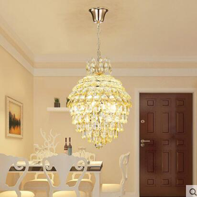 Modern minimalist personality creative crystal chandelier romantic warm dining room kitchen LED dining room lighting led lamps parrots dragonfly led kitchen dining