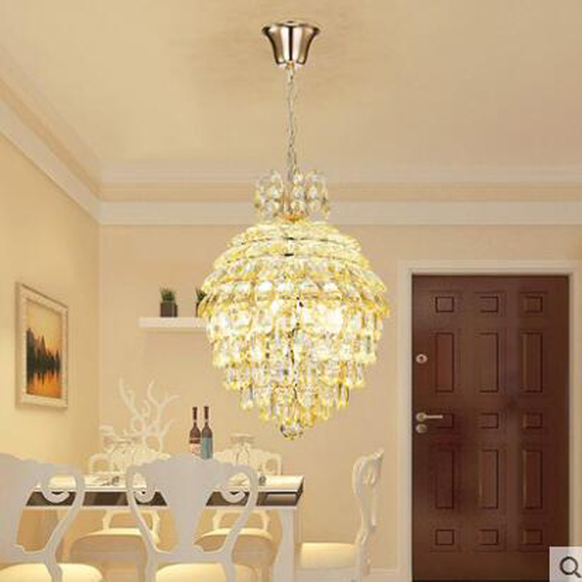 Modern Minimalist Personality Creative Crystal Chandelier Romantic Warm Dining  Room Kitchen LED Dining Room Lighting Led