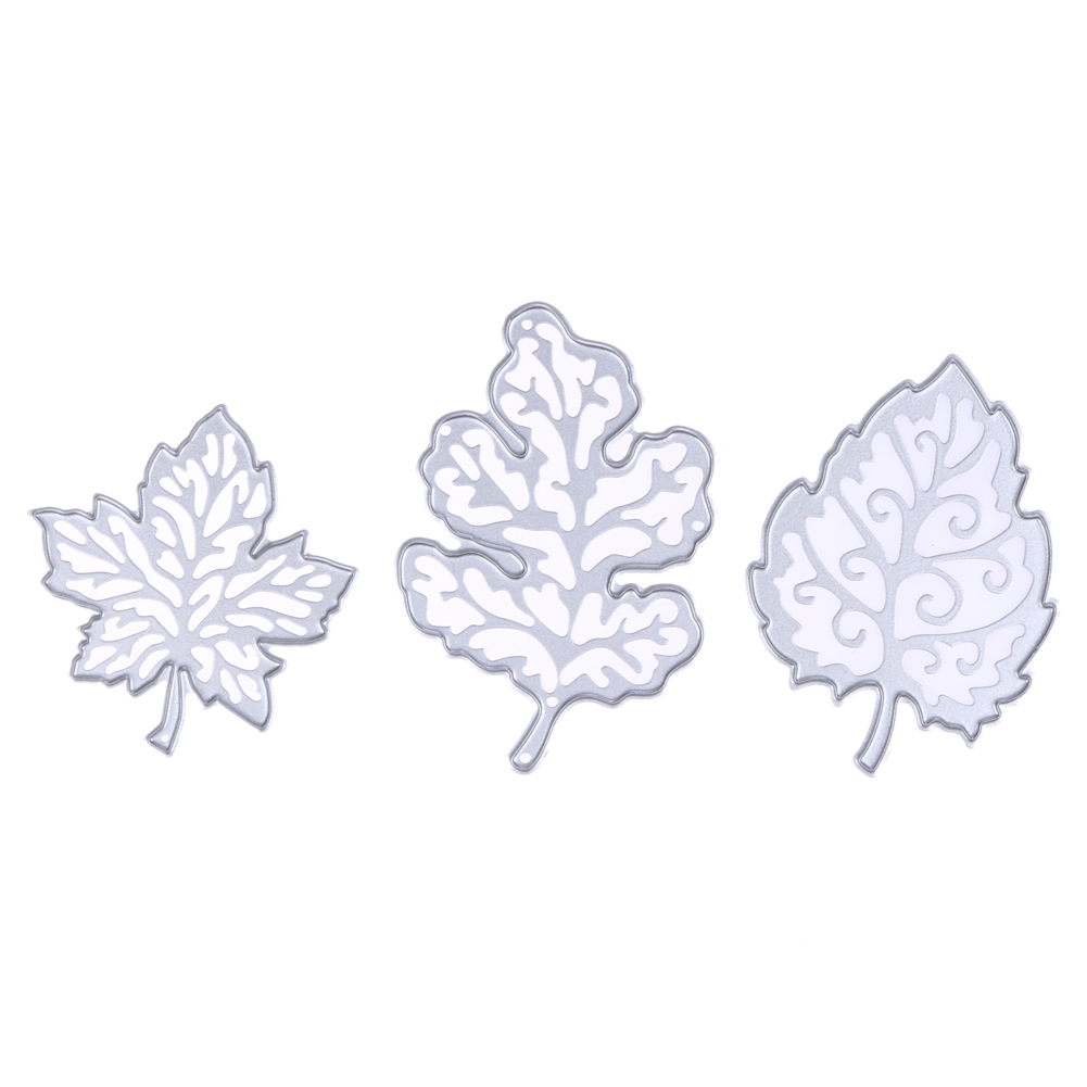 Shenzhen Vakind Technology Co., Ltd.  3Pcs Pretty Leaves Dies cutting Dies For DIY Scrapbooking Photo Album Decorative Embossing Folder Stencil Dies Cuts