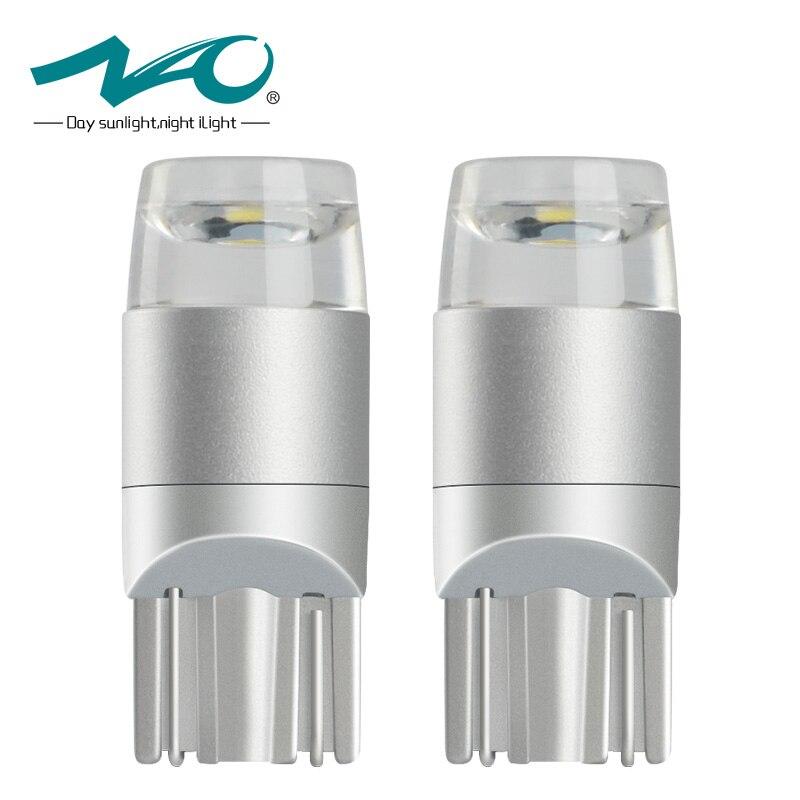 НАО 2x T10 Светодиодные лампы <font><b>W5W</b></font> ВОДИТЬ Автомобиль DRL 3030 SMD 194 168 удара габаритные огни чтения Интерьер лампы 12 В 6000 К белый желтый красный новый