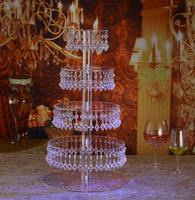 4 tiers acrylic wedding Cake Stand cupcakes display,Crystal Table Centerpiece Wedding Decoration