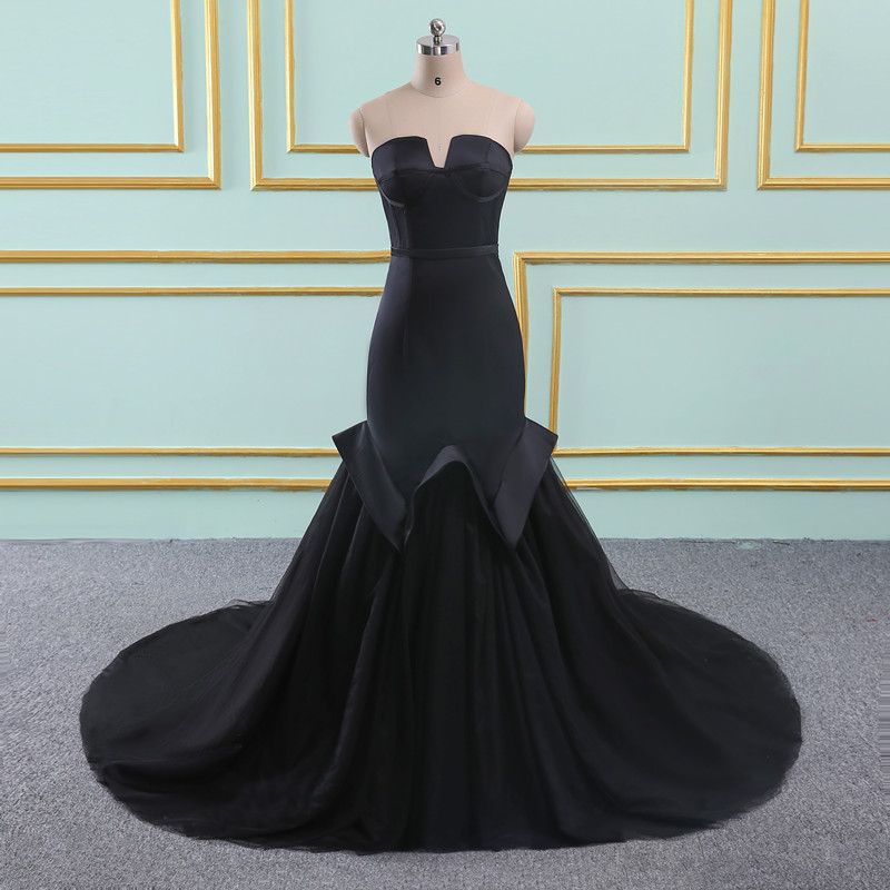 Robe De Soiree mermaid   evening     dresses   long Party Black Sexy for Women Formal Prom   dresses     Evening   gown 2018