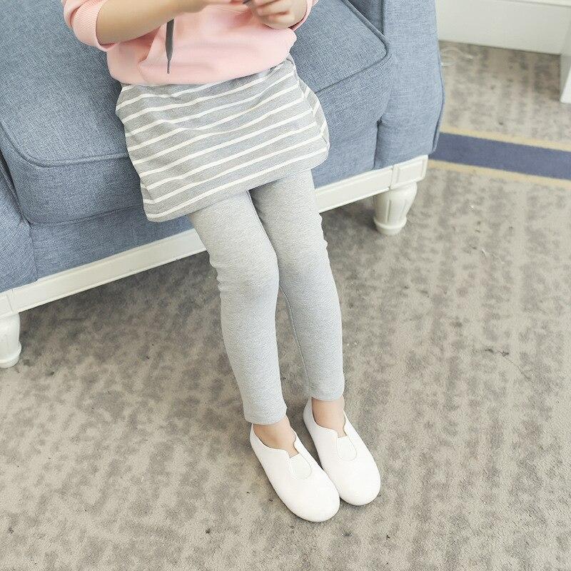 Image 3 - 子供服韓国版女の子スーツ 2019 新スタイル子供の秋スーツ付きのセーターのスポーツストライプスカート 2 セット服セット   -