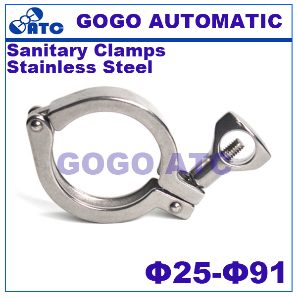 Sanitary Clamps  O.D 25 35 50.5 64 77.5 91mm  stainless steel Food grade Sanitary clamp Ferrule Single Pin Tri Quick Clamps