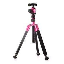 """Selens 150 cm/62 """"rose al-mg alliage professionnel trépied monopode dslr caméra trépieds avec rotule protéger sac max charge 6 kg"""