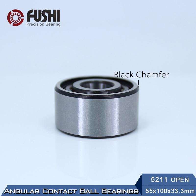 Bearing 5207 5208 5209 5210 5211 5212 OPEN ( 1 PC ) Axial Double Row Angular Contact Ball Bearings 5211 open bearing 55 x 100 x 33 3 mm 1 pc axial double row angular contact 5211 3211 3056211 ball bearings