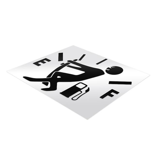 1 Pcs Funny Car Sticker Pull Fuel Tank Pointer To Full Hellaflush Reflective Vinyl Car Sticker 4