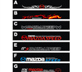 Free shipping Automobile label car Racing stickers for Mazda Front windshield stickers for front window