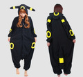 Adult Anime Pokemon Go Cosplay Costume Black Pikachu Umbreon Onesie Unisex Pajamas Party For Women Man