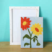 For Acrylic Oil Painting Watercolor Painting DIY Crafts White Blank Screen Wooden Plate Frame Canvas Board Plate Acrylic Paint