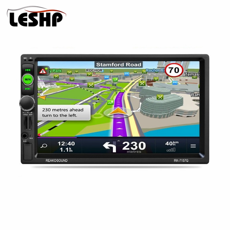 RK-7157G 7inch 2DIN Car Radio MP5 Player FM/AM/RDS Radio Tuner Bluetooth Media Player GPS navigation Rear View Camera Function