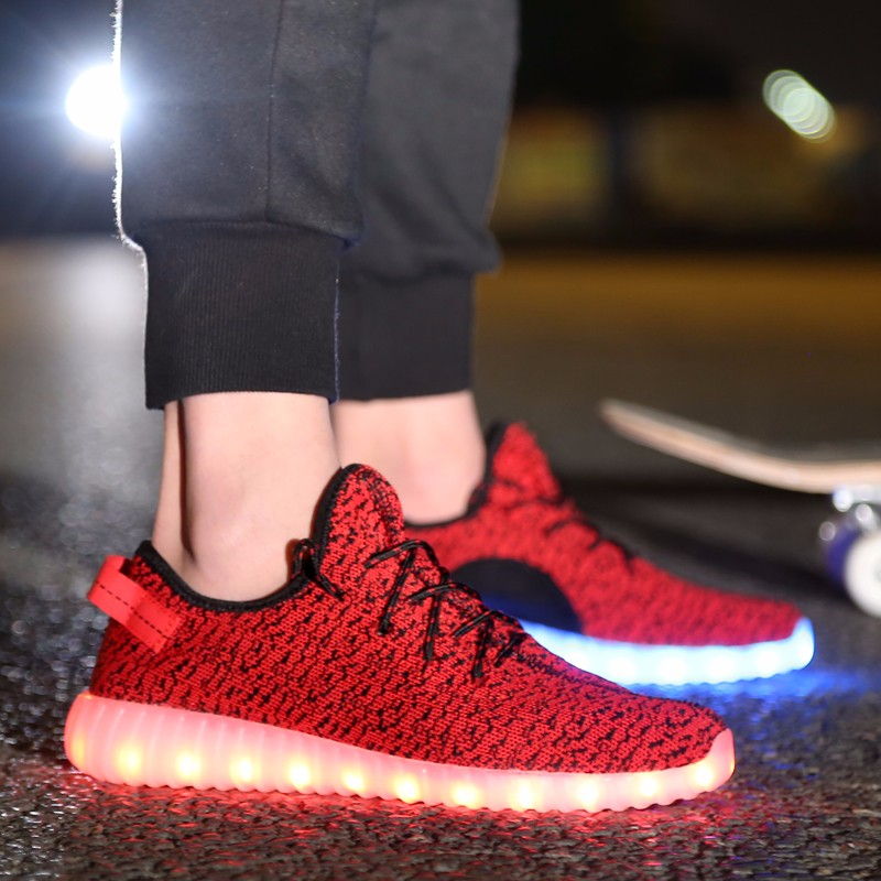 Led Shoes Men Nice Fashion Causal Led Luminous Shoes Lovers Fashion Basket Led Light Up Shoes For Adults Men Shoes 7c11 Men's Shoes