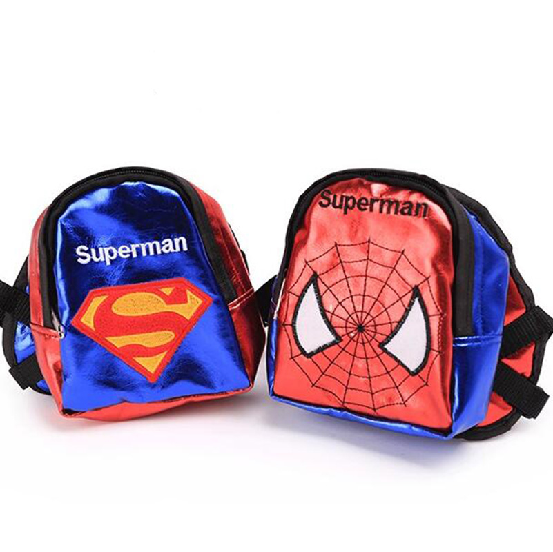 New Superman Dog Cat Backpacks Durable Bags All Seasons For Pet Dog Blue And Red Color Size S M L