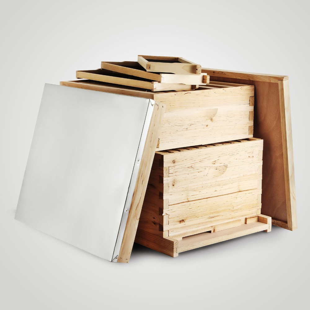 20-Frame Langstroth Bee Hive Complete Box Kit