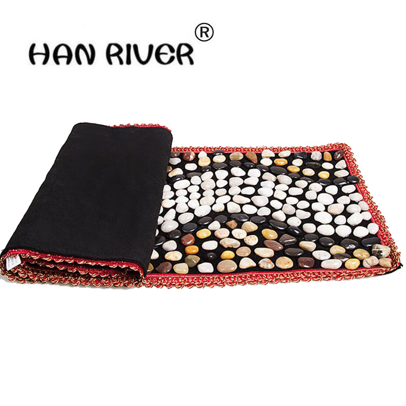 Foot pad bai maji stone pebbles massage foot massage shoes bottom go carpet floor MATS gravel