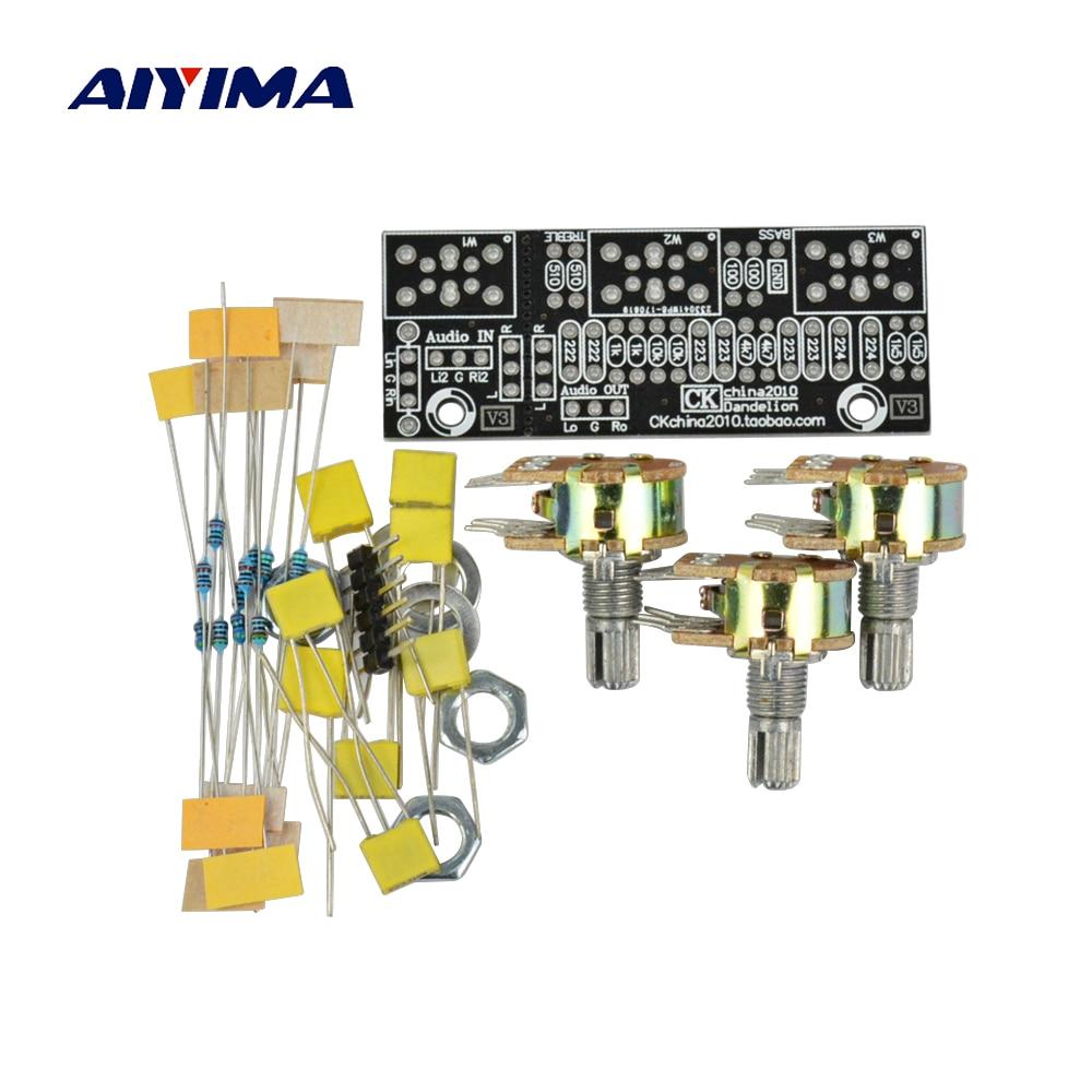 Aiyima Amplificatore Bordo Tono Passivo Bass Treble Controllo Del Volume Pre-amplificatore di Bordo Kit Fai Da Te