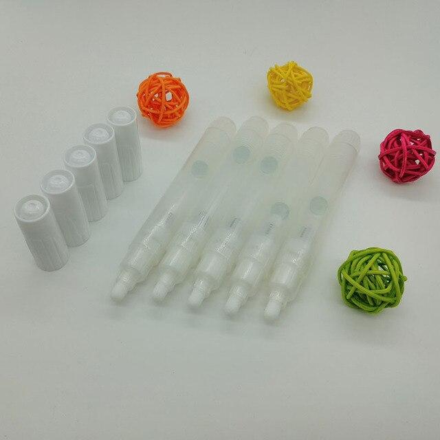 2020 année 50 pcs/lot plume 3mm/5mm/6.5mm/8mm/10mm/15mm/30mm plat vide liquide craie peinture marqueur barils stylo répété remplissage encre