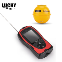 Lucky Sonar Fish Finder Wireless Ice Fishing Accessories Fishfinder Depth Echo Sounder Sensor for Sea Fishing FF1108 1CWLA