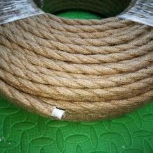 2*0,75 5 м/лот винтажный Плетеный текстильный кабель, плетеный Электрический провод, ретро подвесной светильник, винтажный шнур для лампы