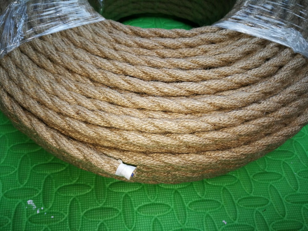 2*<font><b>0.75</b></font> 5M/Lot Vintage Rope Textile Wire Twisted <font><b>Cable</b></font> Braided Electrical Wire Retro Pendant Light Lamp Line Vintage Lamp Cord image