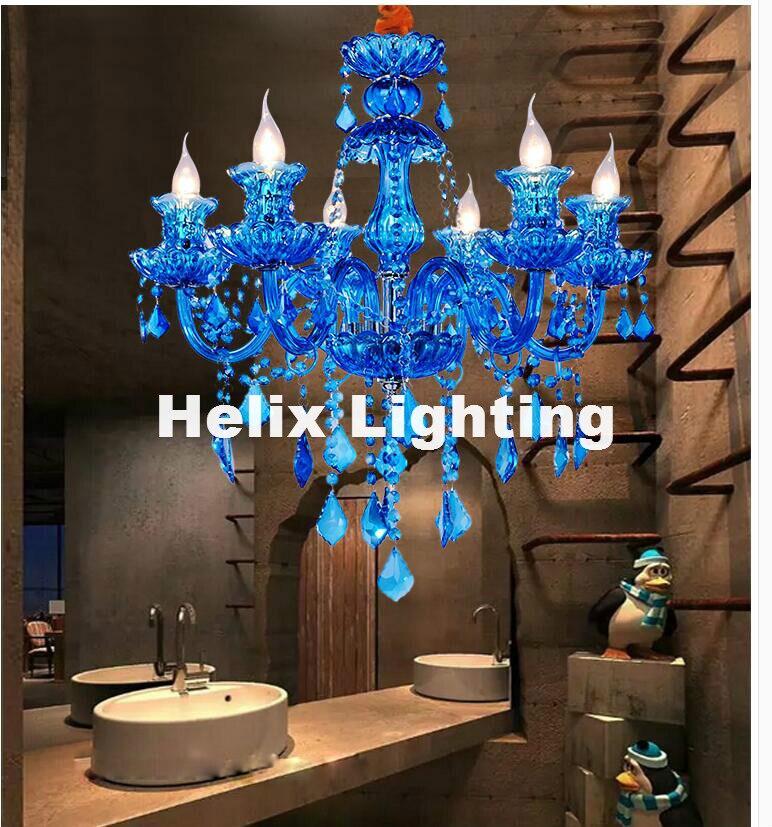 European D60cm H55cm Decora 6L Blue LED Crystal Chandelier Lamp Crystal Modern Lighting AC Guaranteed 100% Crystal Pendant LampEuropean D60cm H55cm Decora 6L Blue LED Crystal Chandelier Lamp Crystal Modern Lighting AC Guaranteed 100% Crystal Pendant Lamp