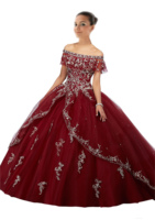 Burgundy Quinceanera Dresses 2019 Long Cheap Ball Gown Prom Dress Sweet 16 Gowns Lace Vestidos 15 anos