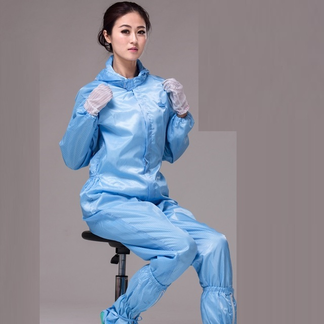 (10 set)Conjoined dust-free clothing gowning Clean clothes Anti-static Siamese clothes Clean spray under protective overalls