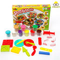 10 Color, Pizza & Pasta 3D DIY Model Plasticine, Kid Handmade Educational Toys, Creative Play Dough, Environmental Plastic Clay