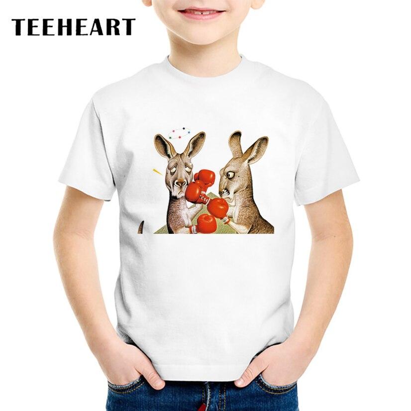 Teeheart новые Обувь для мальчиков/девочек большие уши осла игры Бокс Футболка с принтом летняя футболка с героями мультфильмов дети короткий р... ...