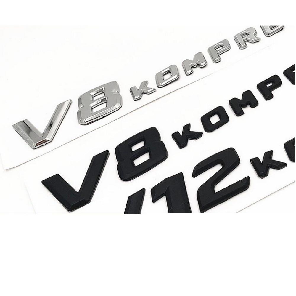 emblema preto fosco de letras de compressor,