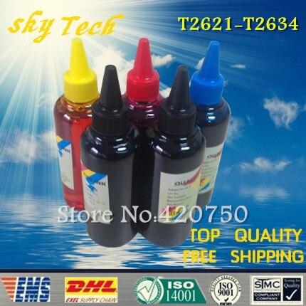 Dye refill ink Suit for Epson T2621 T2631 - T2634 cartridges ,suit for Epson  XP-600 XP-605 XP-700 XP-800 etc, specialized ink dye refill ink suit for epson t5846 cartridges suit for epson pm280 pm200 pm240 pm290 pm225 specialized ink