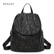 Модные женские туфли промывают водой натуральная кожа рюкзак для подростков девочек школьные сумки Mochilas Mujer женский досуг рюкзак
