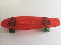 Pastel Purple Mini Cruiser Board Plastic Small Fish Skateboard 22 Street Road Skate Board With Yellow