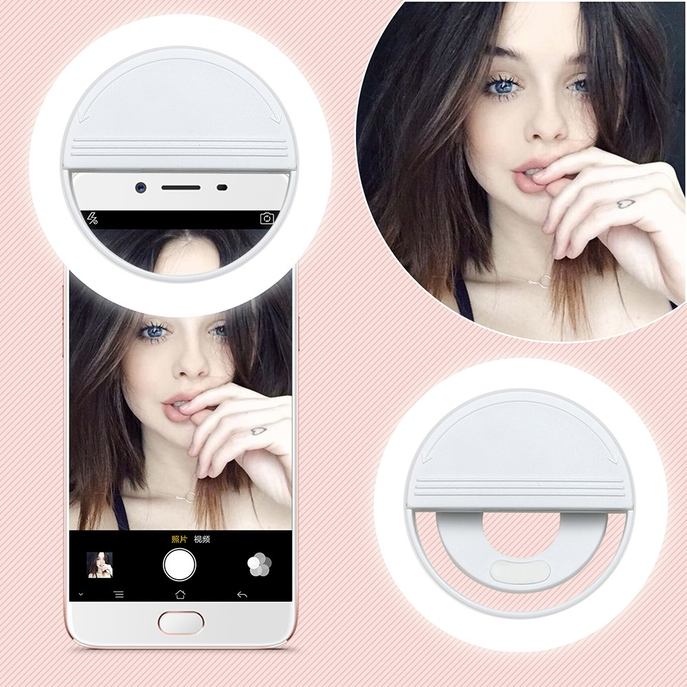 2018 LED Flash Selfie Light Luminous Lamp Telefon Ring 36 För iPhone X 8 7 6S Plus Samsung S7 HTC För Xiaomi Telefon LED Selfie Ring