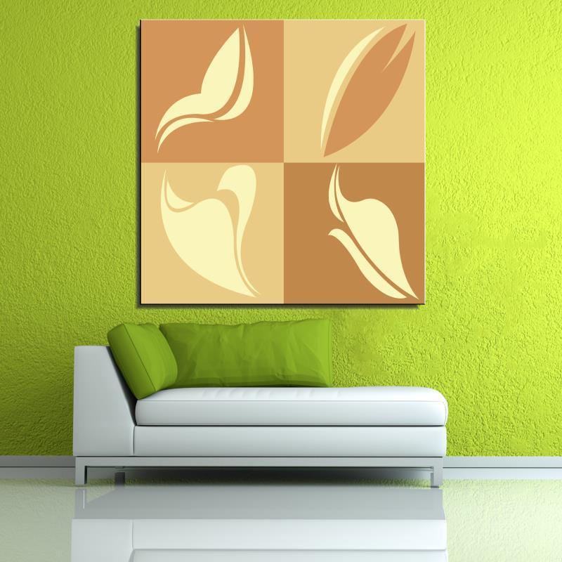 Frameless Canvas Art Oil Painting Flower Painting Design: Graffiti Flower Abstract Canvas Oil Painting Unframed