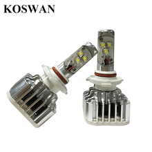 1 Pair All-in-one CREE LED Headlight Bulb 9006 60W 7200LM 9006HB4 LED Auto Headlight with Adjustable Focus Length 6000K White