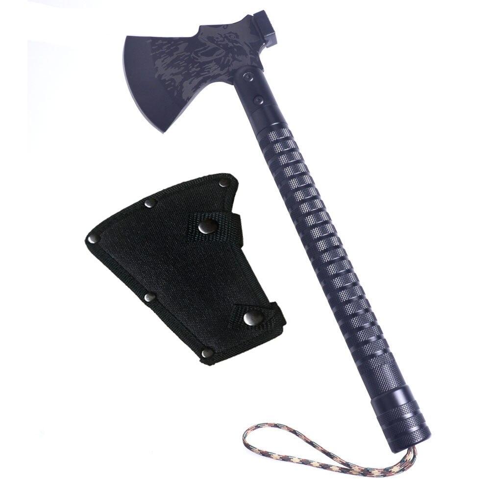王海屋外取り外し可能キャンプ斧アルミ合金折りたたみトマホーク斧多機能サバイバル手斧とナイフ  グループ上の ツール からの 斧 の中 1