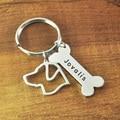 Labrador llavero personalizado Dog Lover personalizada Labrador de encargo del perro perro de la cadena dominante