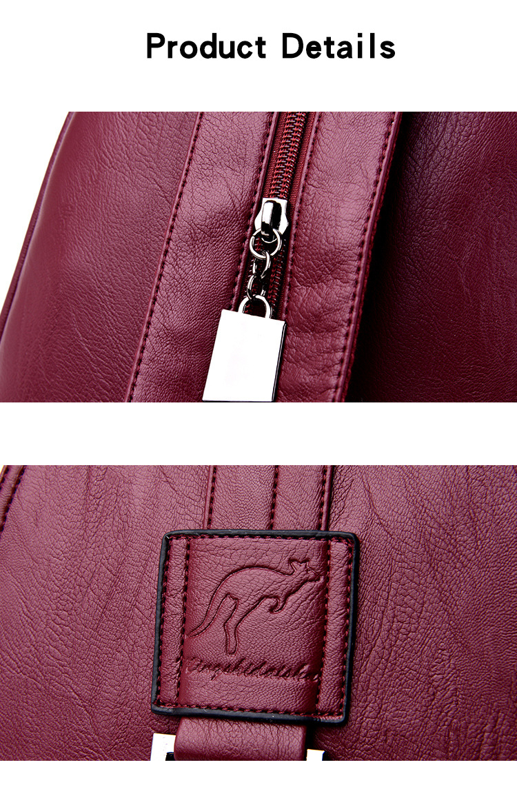 HTB19THFPXYqK1RjSZLeq6zXppXaG atinfor Brand Anti Theft Women Leather Backpacks Purse Vintage Female Shoulder Bag Travel Small Backpack Lady