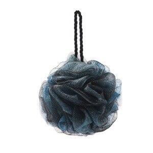 Черные щетки для ванны с цветами и шариками для ванны, мягкая губка для душа, аксессуары для ванной комнаты, вспенивающаяся сетка, сетчатые пузырьки, мочалка