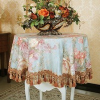 Luxury European style garden table cloth round table cloth cover for TV cabinet customized size accept