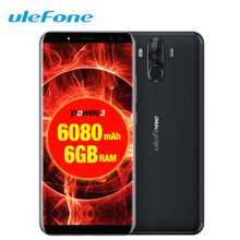 Ulefone Power 3 Face ID Mobile Phone 6.0″18:9 FHD+ 6GB RAM 64GB ROM 6080mAh Android 7.1 Celular OTG 21MP Octa Core 4G Smartphone