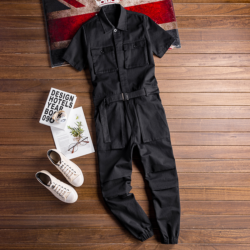 Image 3 - 2020 Summer new onesies jackets men hip hop overalls performance 