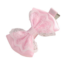 2017 Best sale Cute Lace Bowknot Hair Clips Beautiful Baby Girl Hairpin Child Hair Accessories  coroa de flores tiara infantil